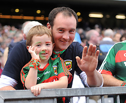 Thomas and Ivan Jennings from Garrymore at the All Ireland Football Final.<br />