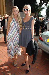 Left to right, FLORENCE BRUDENELL-BRUCE girlfriend of Jenson Button and The HON.SOPHIA HESKETH at the wedding of Chloe Delevingne to Louis Buckworth at St.Paul's Knightsbridge, London on 7th September 2007.<br />
