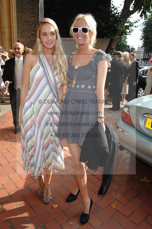 Left to right, FLORENCE BRUDENELL-BRUCE girlfriend of Jenson Button and The HON.SOPHIA HESKETH at the wedding of Chloe Delevingne to Louis Buckworth at St.Paul's Knightsbridge, London on 7th September 2007.<br /><br />NON EXCLUSIVE - WORLD RIGHTS