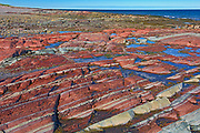 Rocky coastline along the Gulf of St. Lawrence<br />Baie-des-Sables<br />Quebec<br />Canada