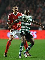 20111126: LISBON, PORTUGAL - SL Benfica vs Sporting  match for Portuguese League 2011/2012. In picture: Elias and Javi Garcia. PHOTO: Alvaro Isidoro/CITYFILES