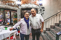 Restaurante El Candil, San Pedro de Alcantara, Spain - left to right - proprietor, Alfonso Lorente, and John Hogan, proprietor, Hogan Stand bar & restaurant, February, 2020, 202002112152<br /><br />Copyright Image from Victor Patterson, Belfast, UK<br />t: +44 28 9066 1296 <br />(from Rep of Ireland 048 9066 1296) <br />m: +44 7802 353836 <br />victorpattersonbelfast@gmail.com <br />www.victorpatterson.com<br /><br />Please see my Terms and Conditions of Use at https://www.victorpatterson.com/page2 <br /><br />It is IMPORTANT that you familiarise yourself with them.<br /><br />Images used on the Internet incur an additional cost and must be visibly watermarked i.e. © Victor Patterson within the body of the image and copyright metadata must not be deleted. Images used on the Internet have a size restriction of 4kbs and are chargeable at rates available at victorpatterson.com.<br /><br />This image is only available for the use of the download recipient i.e. television station, newspaper, magazine, book publisher, etc, and must not be passed on to any third party. It is also downloaded on condition that each and every usage is notified within 7 days to victorpattersonbelfast@gmail.com<br /><br />The right of Victor Patterson to be identified as the author is asserted in accordance with The Copyright Designs And Patents Act (1988). All moral rights are asserted.