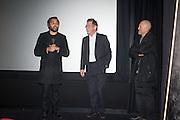 PABLO GANGULI; JOHN HURT; Richard Kwietniowski, Liberatum Cultural Honour  for John Hurt, CBE in association with artist Svetlana K-Lié.  Spice Market, W London - Leicester Square