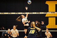 October 31, 2018 - Johnson City, Tennessee - Brooks Gym: ETSU setter Alyssa Kvarta (12)<br /> <br /> Image Credit: Dakota Hamilton/ETSU
