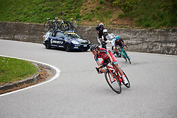 Alice Arzuffi (ITA) in the break on the descent at Giro Rosa 2018 - Stage 5, a 122.6 km road race starting and finishing in Omegna, Italy on July 10, 2018. Photo by Sean Robinson/velofocus.com