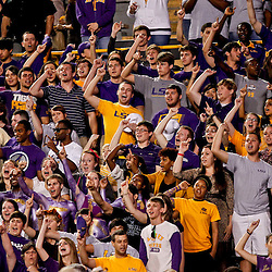 November 10, 2012; Baton Rouge, LA, USA;  LSU Tigers  fans during the first half of a game against the Mississippi State Bulldogs at Tiger Stadium.  Mandatory Credit: Derick E. Hingle-US PRESSWIRE