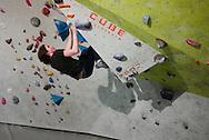netherlands, Nederland, Enschede 07mrt2015 Cube Bouldergym in de voormalig 'pollaroid' fabriek in enschede