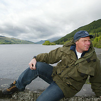 Dave Mill...30.5.2002.  Attn: Sunday Times Pix.<br />Explorer Dave Mill back home in Kenmore,  at the end of Loch Tay, Perthshire.<br /><br />Picture by John Lindsay .<br />COPYRIGHT: Perthshire Picture Agency.<br />Tel. 01738 623350 / 07775 852112.