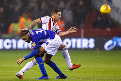 Billy Sharp of Sheffield United takes on Michael Hector of Sheffield Wednesday - Mandatory by-line: Robbie Stephenson/JMP - 09/11/2018 - FOOTBALL - Bramall Lane - Sheffield, England - Sheffield United v Sheffield Wednesday - Sky Bet Championship