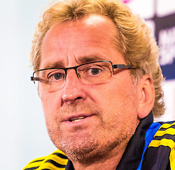 06.06.2013, Ernst Happel Stadion, Wien, AUT, FIFA WM Qualifikation, Oesterreich vs Schweden, Pressekonferenz Schweden, im Bild Erik Hamren (SWE, Trainer)// during an Swedish Press Conference for the FIFA World Cup Qualifier Match between Austria (AUT) and Sweden (SWE) at the Ernst Happel Stadion, Vienna, Austria on 2013/06/06. EXPA Pictures © 2013, PhotoCredit: EXPA/ Sebastian Pucher