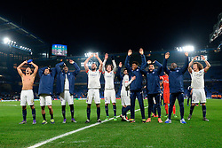 09.03.2016, Stamford Bridge, London, ENG, UEFA CL, FC Chelsea vs Paris Saint Germain, Achtelfinale, Rueckspiel, im Bild marquinhos, lucas moura, matuidi blaise, motta thiago, rabiot adrien, kimpebe presnel, kurzawa layvin, augustin jean kevin, david luiz // during the UEFA Champions League Round of 16, 2nd Leg match between FC Chelsea vs Paris Saint Germain at the Stamford Bridge in London, Great Britain on 2016/03/09. EXPA Pictures © 2016, PhotoCredit: EXPA/ Pressesports/ MOUNIC ALAIN<br /> <br /> *****ATTENTION - for AUT, SLO, CRO, SRB, BIH, MAZ, POL only*****