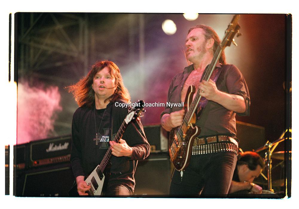 Karlshamn 1999<br /> Sweden Rock Festival<br /> Mot&ouml;rhead<br /> Lemmy Kilmister<br /> John Norum Guitar from Europe<br /> <br /> <br /> FOTO JOACHIM NYWALL KOD0708840825<br /> COPYRIGHT JOACHIMNYWALL:SE<br /> <br /> ****BETALBILD****<br />  <br /> Redovisas till: Joachim Nywall<br /> Strandgatan 30<br /> 461 31 Trollh&auml;ttan<br />  Prislista: BLF, om ej annat avtalats