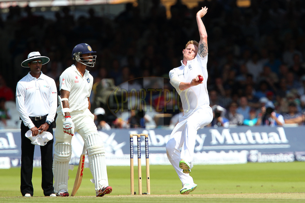 Ben Stokes of England during day three of the 2nd Investec test match between England and India held at Lords cricket ground in London, England on the 19th July 2014<br /> <br /> Photo by Ron Gaunt / SPORTZPICS/ BCCI