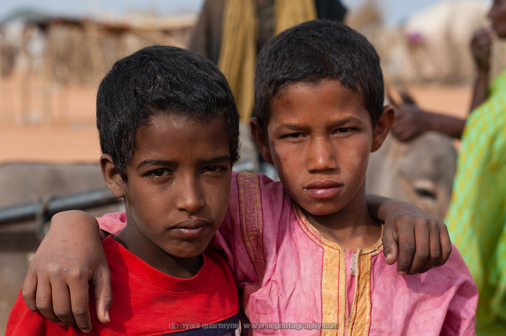 Children at the Mbera camp for Malian refugees in Mauritania on 2 March 2013.