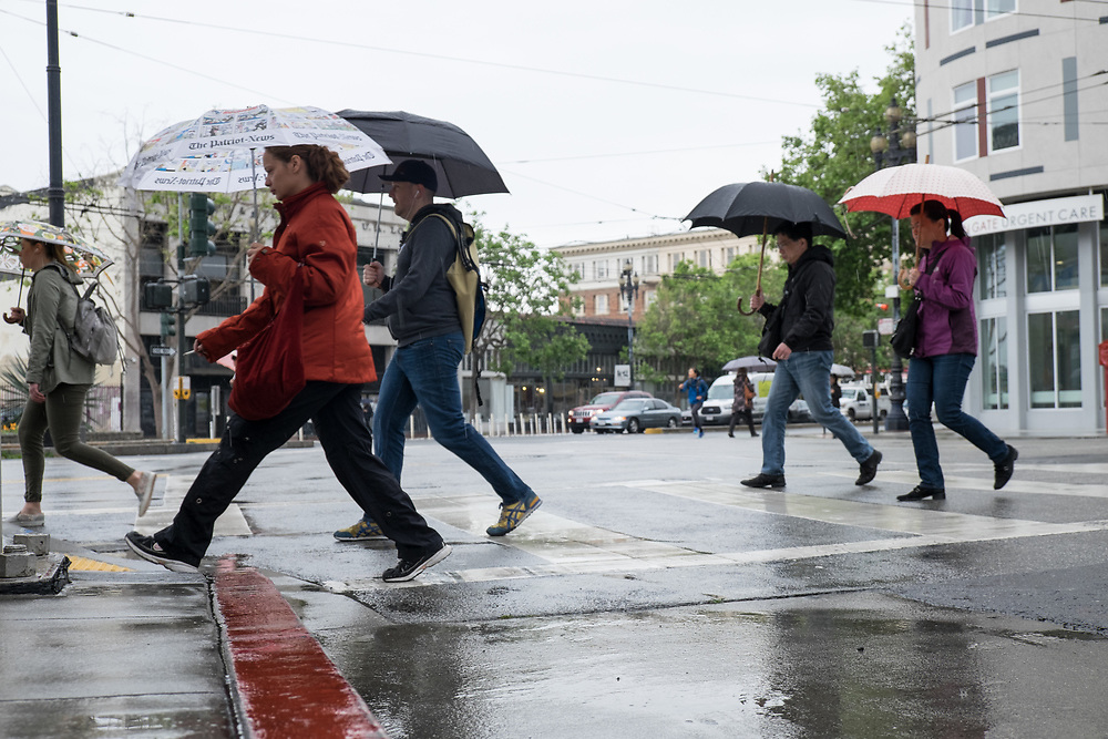 Pedestrians in the Rain | April 6, 2017