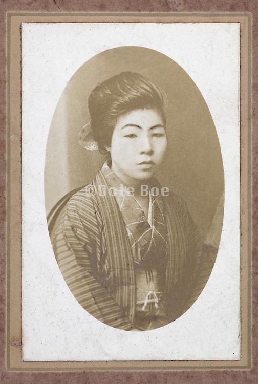 portrait of Japanese girl in Kimono 1920s
