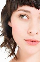 Young Brunette Woman close up head shot