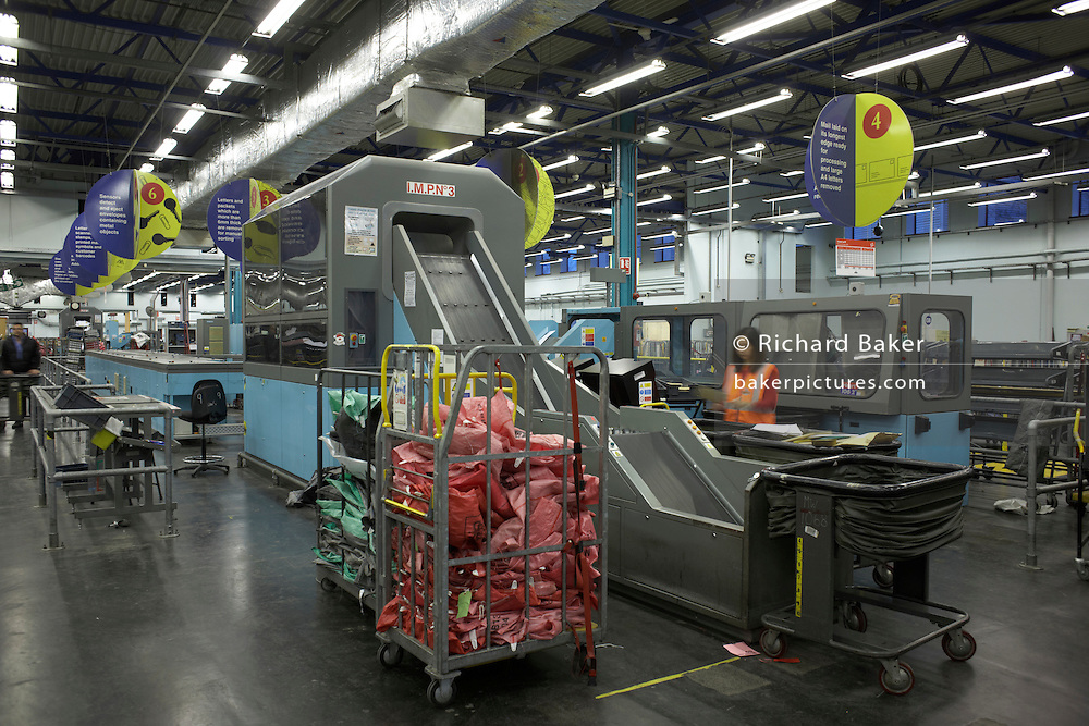 The Royal Mail's Siemens Integrated Mail Processor (SIMP) handling some of the 82 million items a day to 27 million UK addresses