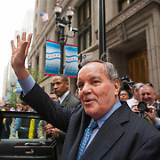 Mayor Richard M. Daley leaves City Hall for the time Friday May 13, 2011.  Photography by Jose More