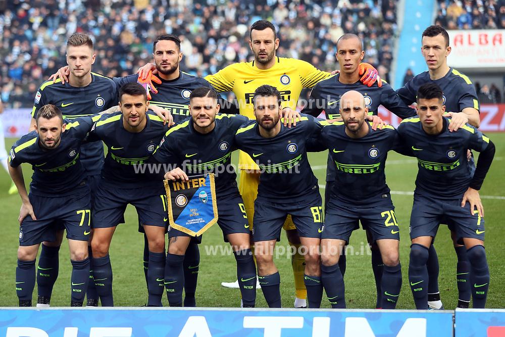 FOTO DI SQUADRA INTER<br /> CALCIO SPAL - INTER