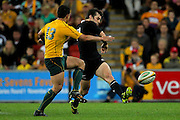 Conrad Smith in action during the Tri Nations and Bledisloe Cup Rugby Union Test Match. Australian Wallabies v New Zealand, Suncorp Stadium, Brisbane, Australia on Saturday 27 August 2011.  Photo: Patrick Hamilton/Photosport