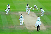 Wicket - Matthew Wade of Australia is caught by Jos Buttler of England off the bowling of Jack Leach of England during the International Test Match 2019 match between England and Australia at Lord's Cricket Ground, St John's Wood, United Kingdom on 18 August 2019.