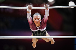 October 28, 2018 - Doha, Quatar - Sofia Bjoernholdt of  Denmark   during  Uneven Bars qualification at the Aspire Dome in Doha, Qatar, Artistic FIG Gymnastics World Championships on 28 of October 2018. (Credit Image: © Ulrik Pedersen/NurPhoto via ZUMA Press)