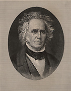 William Cranch Bond (1789-1859), American astronomer born in Falmouth (now Portland), Maine.   First director of Harvard University Observatory (1840).  He independently discovered the Great Comet of 1811 and was a pioneer of astrophotography. Engraving,