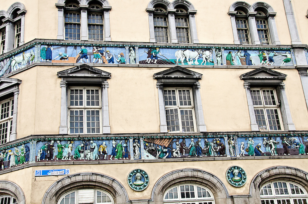 The Sunlight Chambers Building, on Essex Quay, in Dublin, Ireland is decorated with friezes of the history of hygiene.