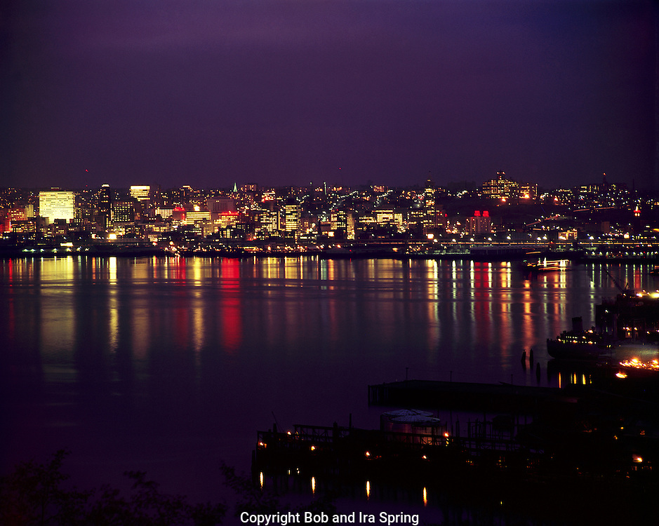 BI32,815-01...WASHINGTON - A 1965 photograph over Elliott Bay and the city of Seattle from West Seattle.