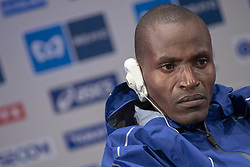 March 1, 2019 - Tokyo, Tokyo, Japan - Kenya's Dickson Chumba speaks during a press conference ahead of the Tokyo Marathon in Tokyo on March 1, 2019. The annual Tokyo Marathon will be held on March 3. (Credit Image: © Alessandro Di Ciommo/NurPhoto via ZUMA Press)
