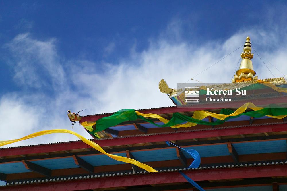 Roof of Ugyen Choeling Palace, Tang Valley, Bumthang, Bhutan