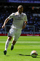 05.04.2015, Estadio Santiago Bernabeu, Madrid, ESP, Primera Division, Real Madrid vs FC Granada, 29. Runde, im Bild Real Madrid&acute;s Karim Benzema // during the Spanish Primera Division 29th round match between Real Madrid CF and Granada FC at the Estadio Santiago Bernabeu in Madrid, Spain on 2015/04/05. EXPA Pictures &copy; 2015, PhotoCredit: EXPA/ Alterphotos/ Luis Fernandez<br /> <br /> *****ATTENTION - OUT of ESP, SUI*****