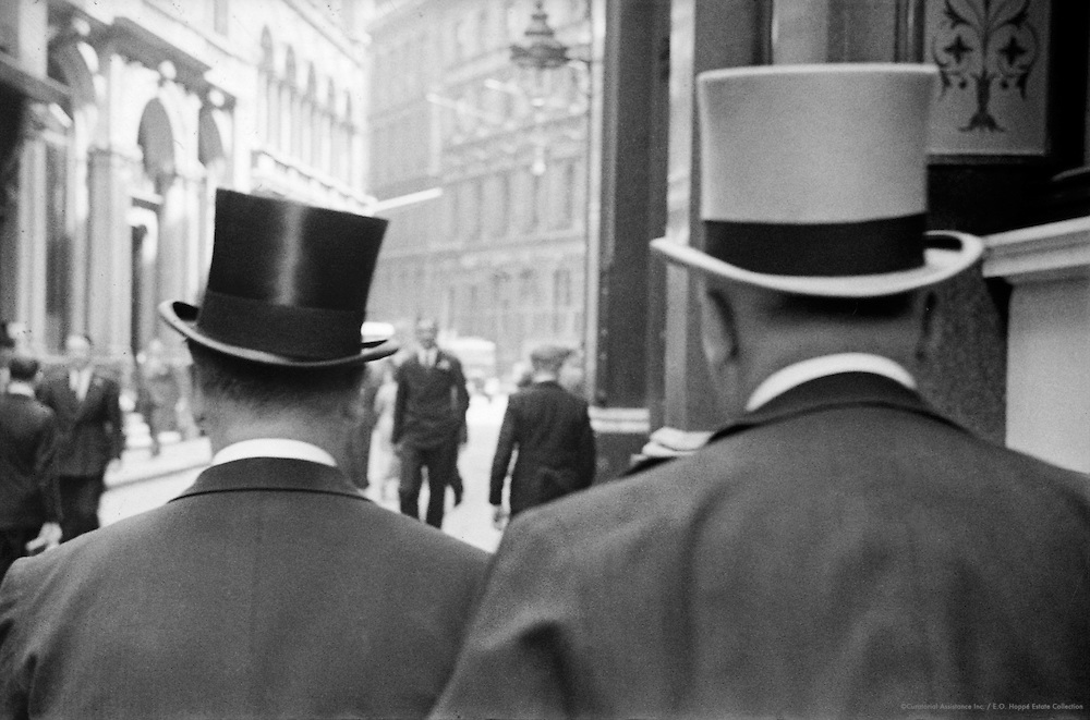 Top Hats in Throgmorton Street, London, 1937