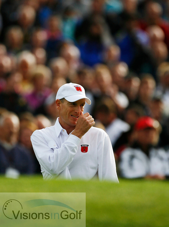 Jim Furyk on the second day Saturday afternoon at the Ryder Cup Matches 2010, Celtic Manor, Wales<br /> Picture Credit: Mark Newcombe / visionsingolf.com