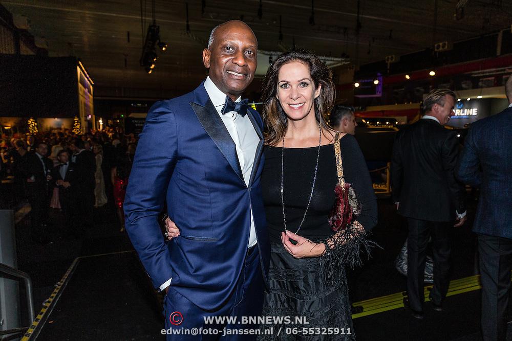 NLD/Amsterdam/20161208 - Vipnight 10de Masters of LXRY, Annemarie van Gaal en partner  Rhandy Macnack
