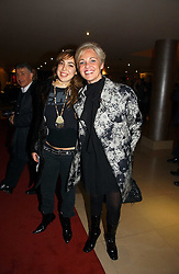 Left to right, PATRICIA BROWN and AMANDA ELIASCH at a party to launch Three's A Crowd held at the Mayfair Hotel, Berkley Street, London on 5th December 2006.<br />