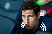 Bayern Munich's German midfielder Sebastian Rudy sits on the bench during the UEFA Champions League, Group B football match between Paris Saint-Germain and Bayern Munich on September 27, 2017 at the Parc des Princes stadium in Paris, France - Photo Benjamin Cremel / ProSportsImages / DPPI