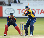 London, GREAT BRITAIN, Eye on the ball, Europe's Trent JONHSTON, sets himself for the drive, during the MCC vs Europe Match at Lords Cricket ground, England on Thur 07.06.2007  [Photo, Peter Spurrier/Intersport-images].....
