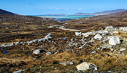 Looking towards Fadhail Losgaintir - a long inlet on the west coast of the Island of Harris, Outer Hebrides, Scotland<br /> <br /> (c) Andrew Wilson | Edinburgh Elite media