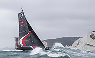 The Seven Star Triple Crown as part of Lendy Cowes week 2017. The Volvo Ocean Race Team &quot;Sun Hung Kai/Scallywag&quot; shown here rounding the Needles. Skippered by David Witt<br /> Credit Lloyd Images