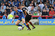 Callum Kennedy defender for AFC Wimbledon (3) in action during Sky Bet League 2 match between AFC Wimbledon and Newport County at the Cherry Red Records Stadium, Kingston, England on 7 May 2016. Photo by Stuart Butcher.