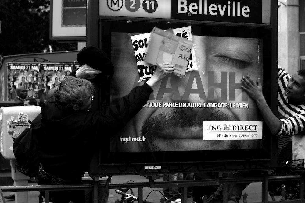 Metro Belleville, Paris