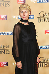 © Licensed to London News Pictures. 18/03/2015, UK. Ian Tara Fitzgerald (Selyse Baratheon), Game of Thrones - Series Five World Premiere, Tower of London, London UK, 18 March 2015. Photo credit : Richard Goldschmidt/Piqtured/LNP