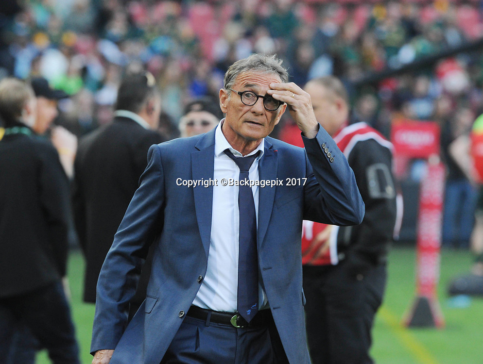 Guy Noves coach of France during the 2017 International Incoming Series rugby match between SA and France on 24 June 2017 at Ellis Park Stadium   © Sydney Mahlangu /BackpagePix