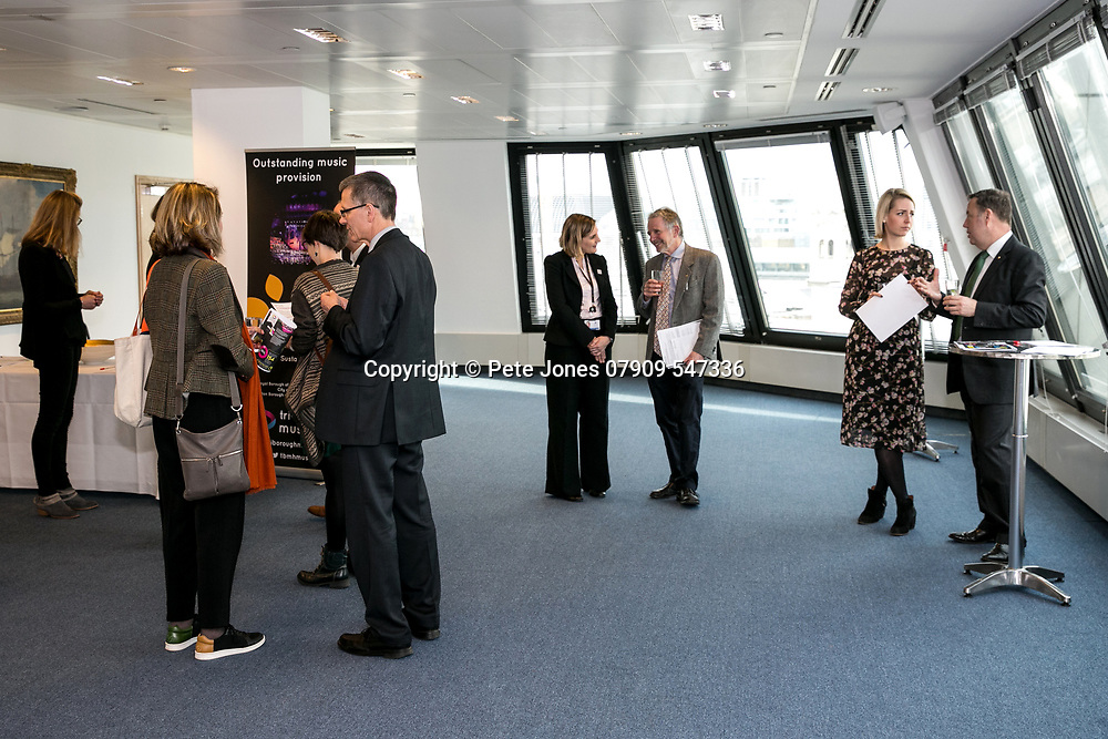 Tri-Borough Music Hub Reception;<br /> Lord Mayor of Westminster Offices;<br /> 5, The Strand, London, WC2N 5HR<br /> 28th March 2018.<br /> <br /> © Pete Jones<br /> pete@pjproductions.co.uk