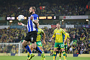 Sheffield Wednesday forward Steven Fletcher (9) controls the ball during the EFL Sky Bet Championship match between Norwich City and Sheffield Wednesday at Carrow Road, Norwich, England on 19 April 2019.