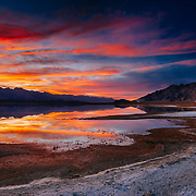 Sierra sunset over Owens Lake in southern California.