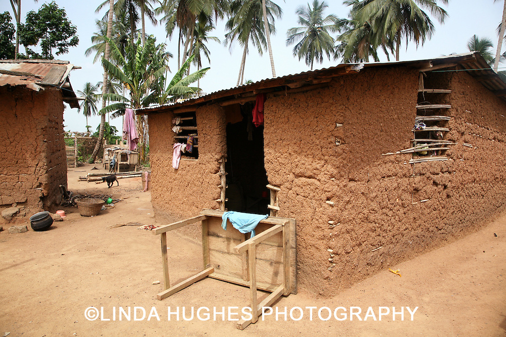 Remote Village area near Accra Ghana West Africa