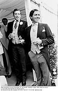 Nigel Dempster &amp; Louis Basualdo  at  The Derby. Epsom. 5 June 1885. film 85370f22<br />&copy; Copyright Photograph by Dafydd Jones<br />66 Stockwell Park Rd. London SW9 0DA<br />Tel 0171 733 0108  dafjones.com